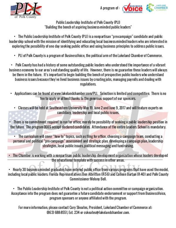 Public Affairs Documents PLI 2017