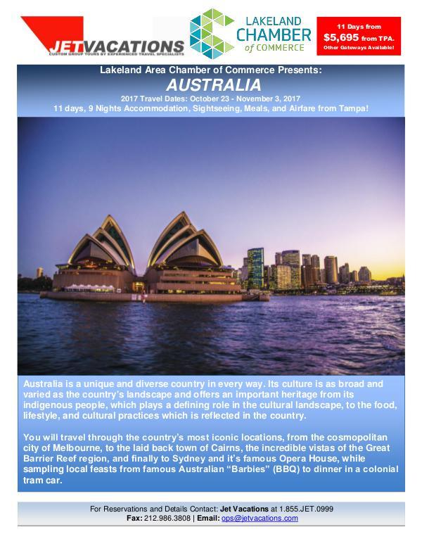 Australia 2017 - Chamber Travel