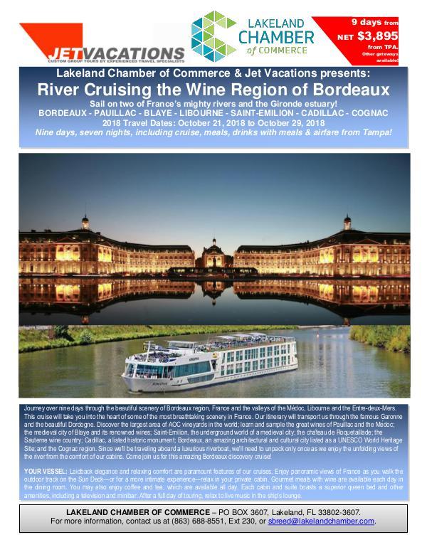River Cruising the Wine Region of Bordeaux Final BROCHURE 4 PAGES LAKELAND Bordeaux Cruisev18