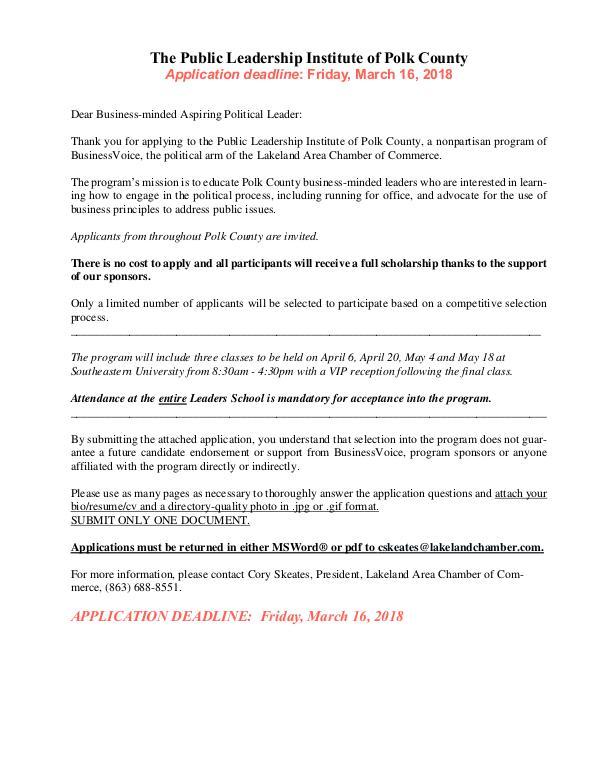 Public Affairs Documents PLI of Polk April 2018 application