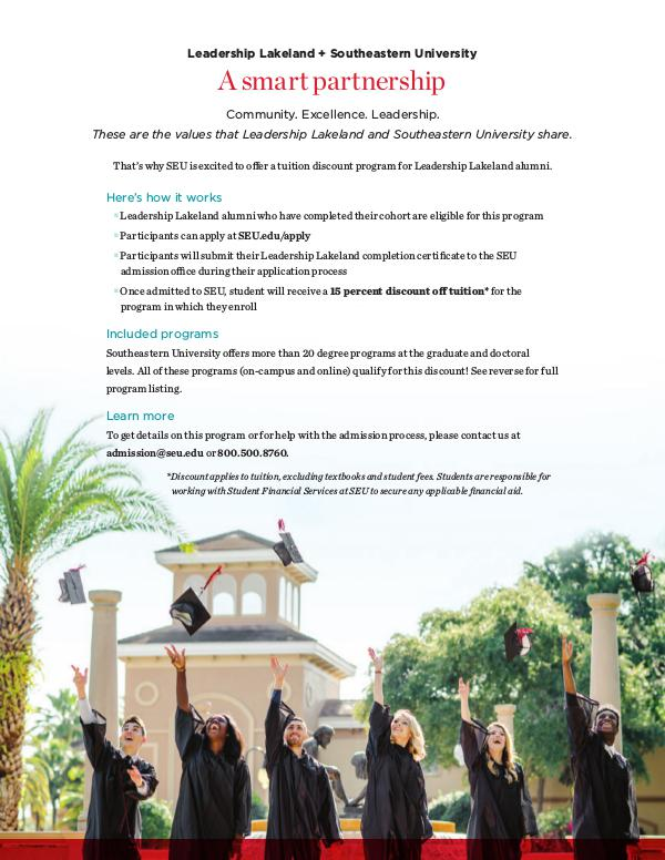 SEU Tuition Discount Program for LL Graduates Tuition Discount-LeadershipLakeland-rev