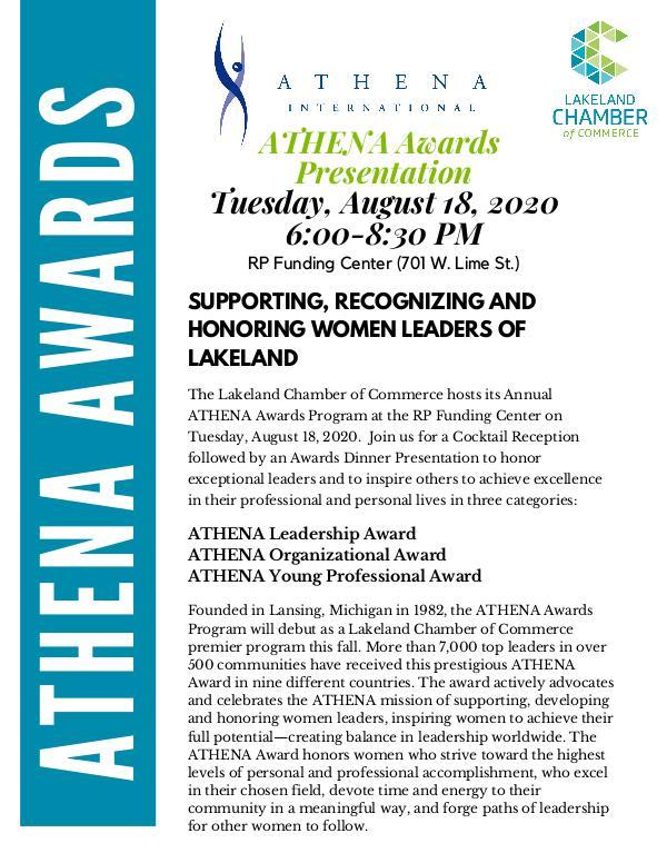 ATHENA Awards Sponsorship Opportunities ATHENA Sponsorship Opportunities Form