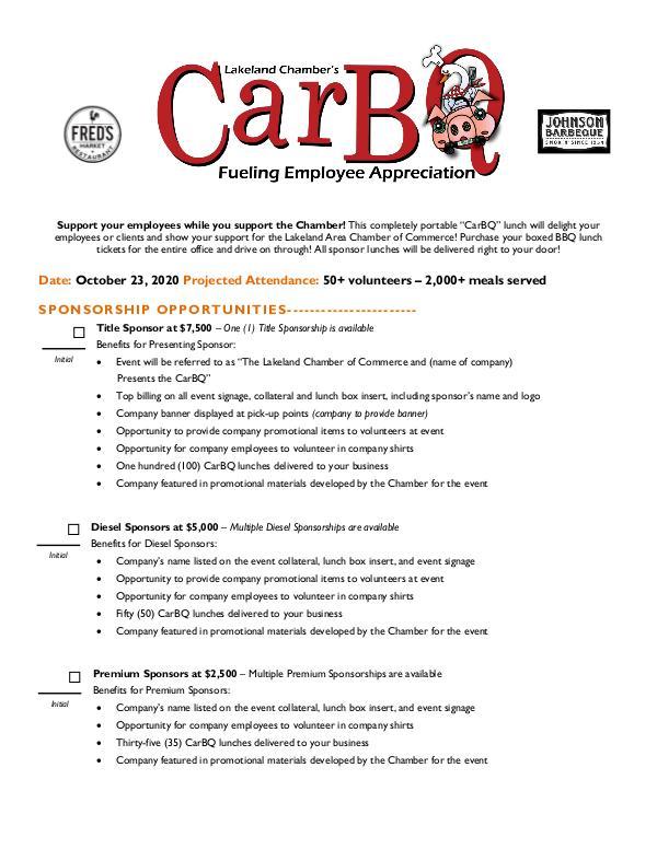 2020 CarBQ CarBQ sponsorship