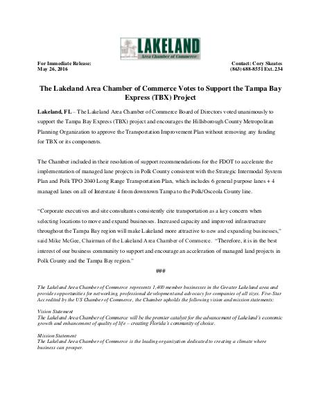 Public Affairs Documents TBX Press Release