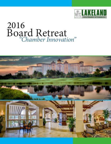 2016 Annual Board Retreat