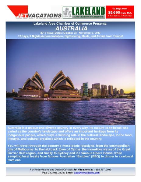 2017 Travel Brochure