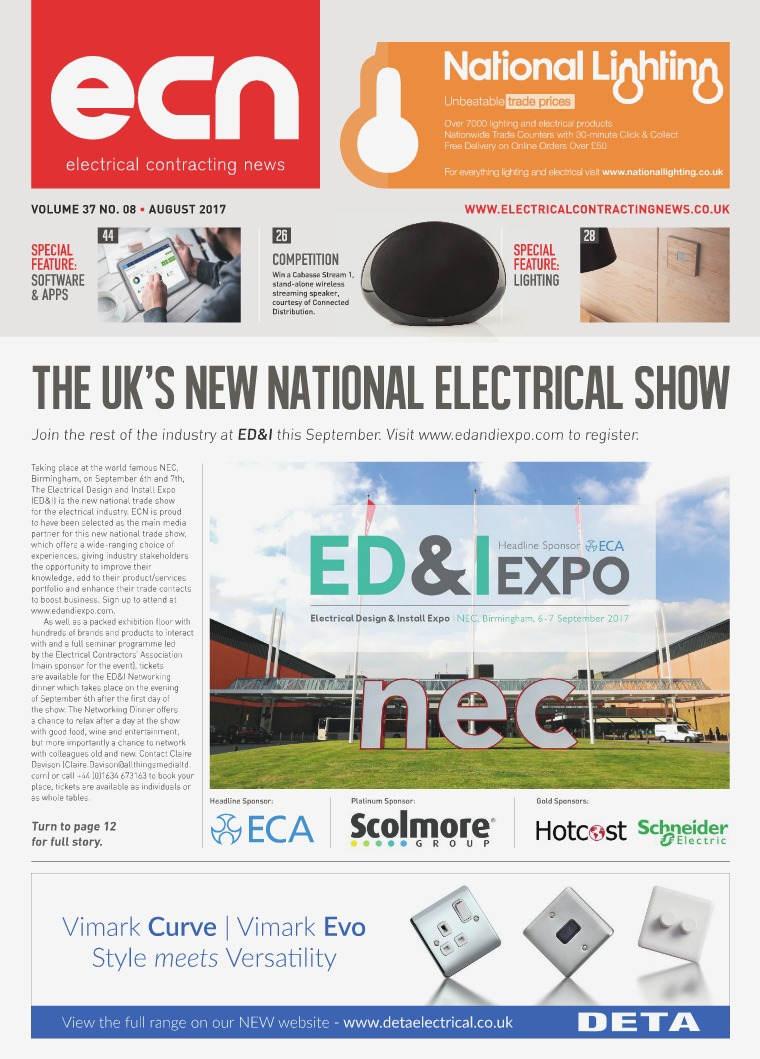 Electrical Contracting News (ECN) August 2017
