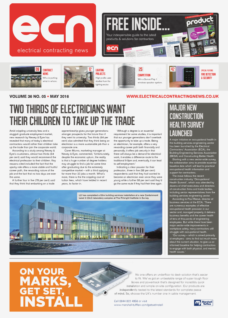 Electrical Contracting News (ECN) May 2016