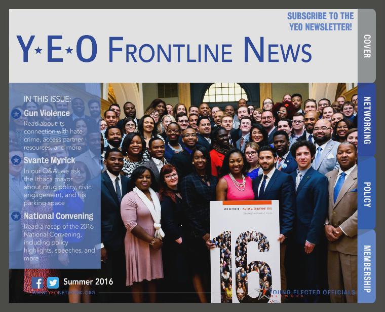 YEO Frontline News 2nd Quarter, 2016