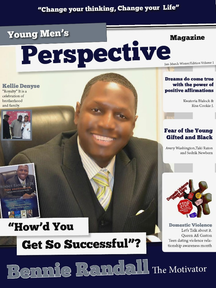 Young Men's Perspective Magazine vol 1 winter edition volume 1 March 2013