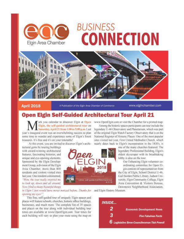 April 2018 April newsletter