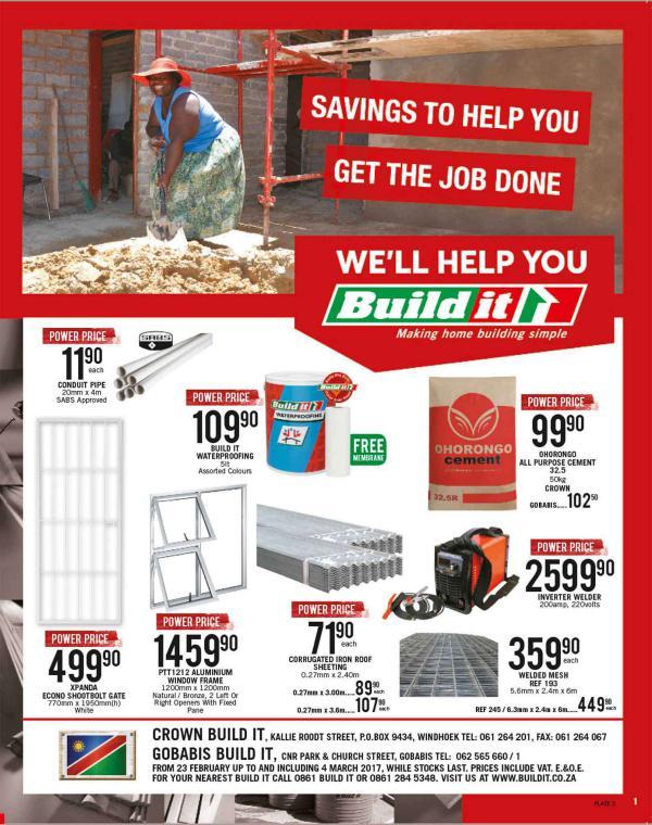 Build It - Windhoek 23 Feb - 4 March 2017