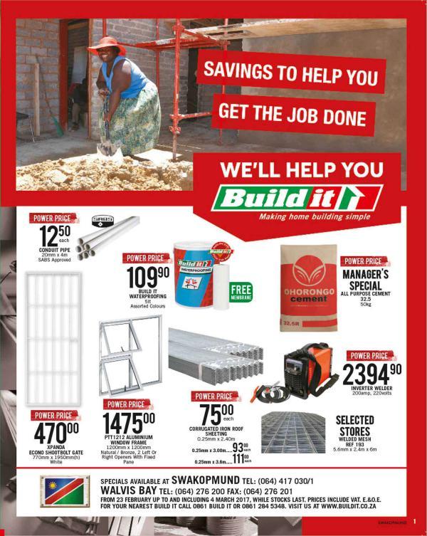 Build It Namibia - Swakopmund 23 Feb - 4 March 2017