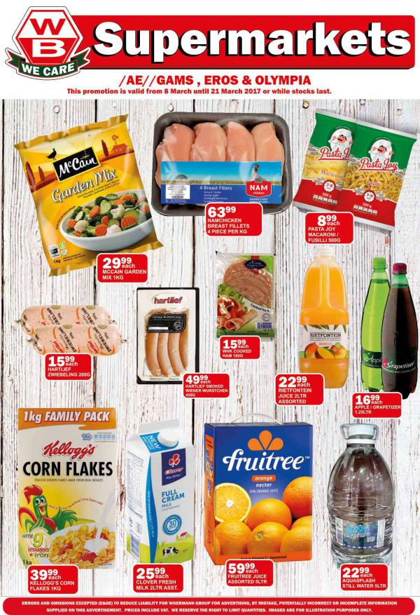 Woermann Supermarkets 8 March - 21 March 2017
