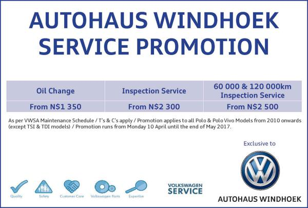 Autohaus Namibia Autohaus Windhoek - Service Promotion
