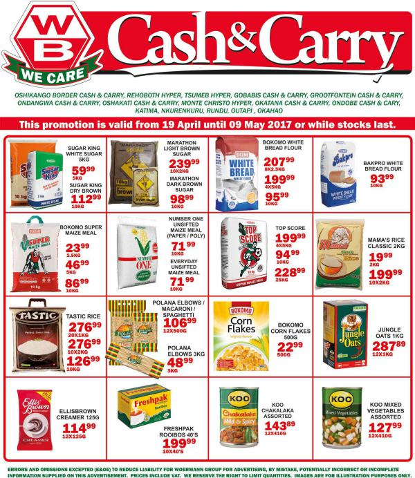 Woermann Cash & Carry Namibia 19 April - 9 May 2017
