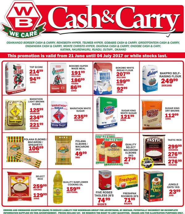 Woermann Cash & Carry Namibia 21 June - 4 July 2017