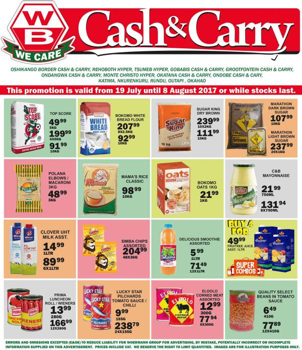 Woermann Cash & Carry Namibia 19 July - 8 August 2017