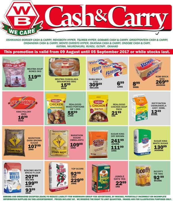 Woermann Cash & Carry Namibia 9 August - 5 September 2017