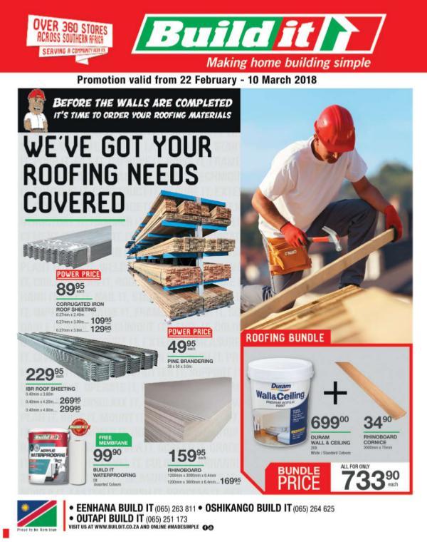 Build It Eenhana, Oshikango & Outapi 22 Feb - 10 Mar 2018