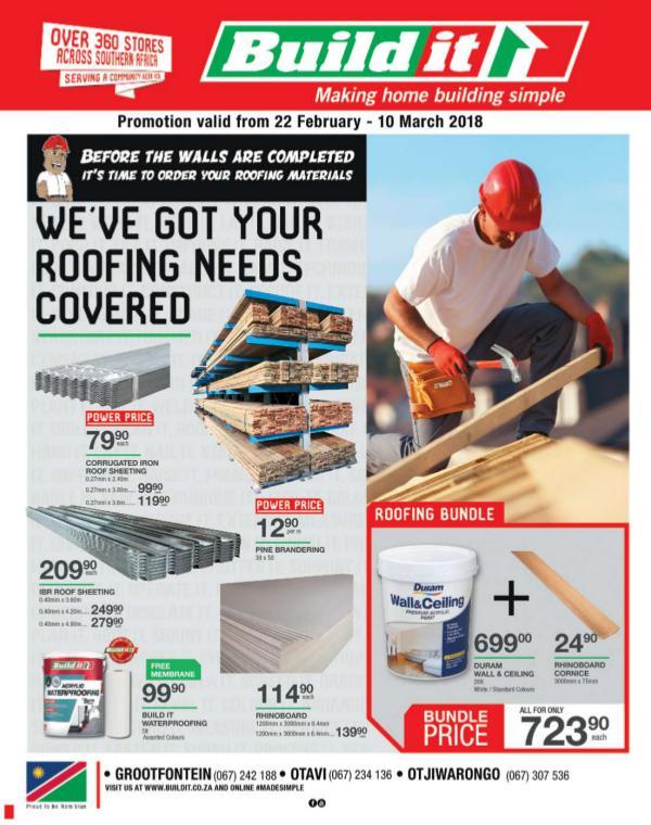 Build It Namibia - Grootfontein, Otavi, Otjiwarongo & Omaruru 22 Feb - 10 Mar 2018