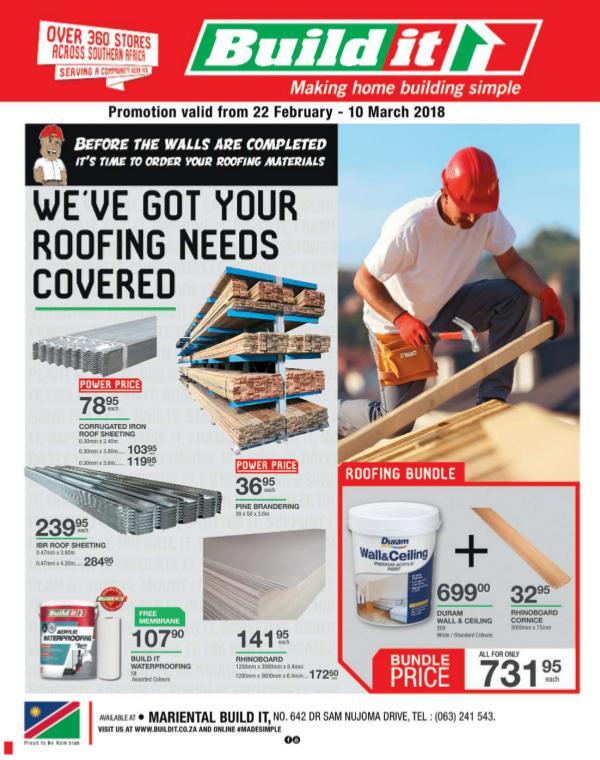 Build It Namibia - Mariental 22 Feb - 10 Mar 2018