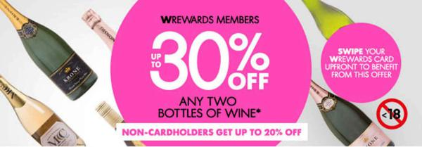 Woolworths Namibia Any 2 Bottles of Wine*