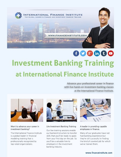 Finance and Investment Banking Classes Investment Banking Training with IFI