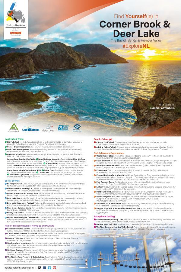 2019 Wayfinder Map Series Find Yourself(ie): Humber Valley & Bay of Islands
