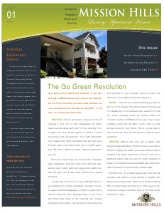 Mission Hills Quarterly News Edition 01 March 2013