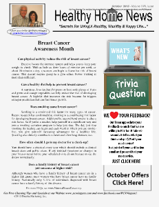 Healthy Home Newsletter October 2013 - Volume XVII, Issue 10