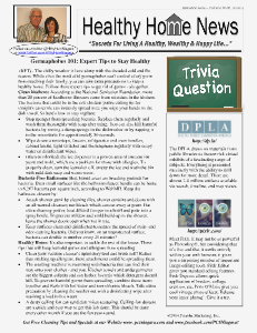 Healthy Home Newsletter January 2014 - Volume XVLLL, Issue 1