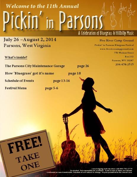 2014 Pickin' in Parsons Bluegrass Festival July 2014