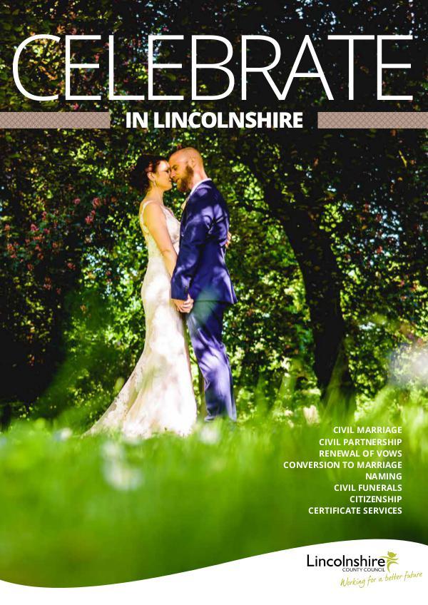 Celebrate in Lincolnshire Celebrate in Lincolnshire, civil wedding ceremony