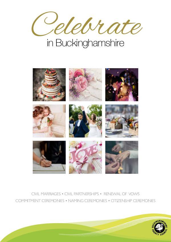 Celebrate in Buckinghamshire, Wedding Guide Buckinghamshire A4