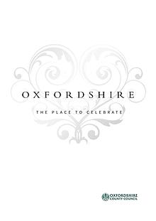 Oxfordshire, the place to marry