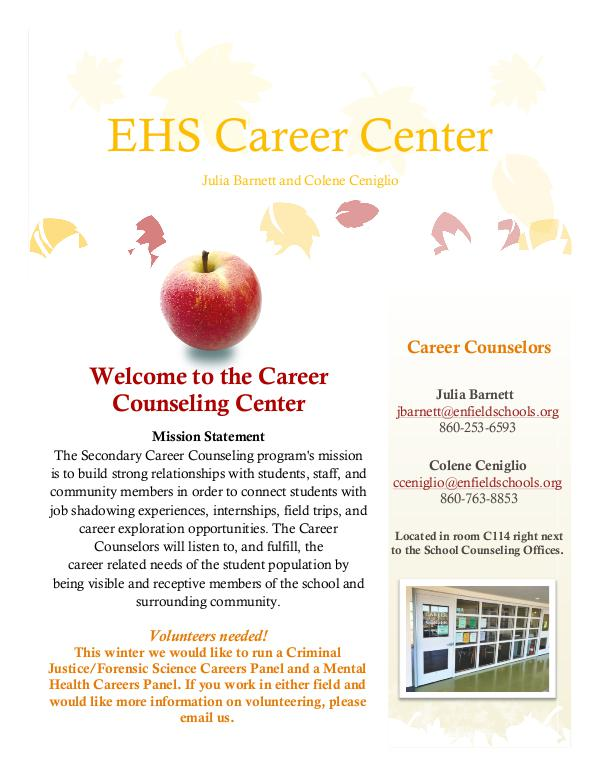 EHS Career Center Fall 17 Newsletter