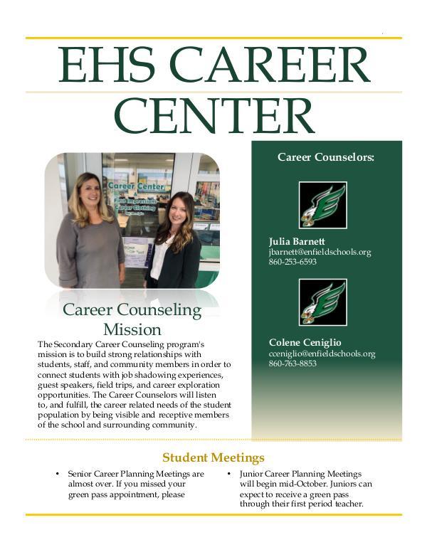 Career Center Newsletter Fall 2019