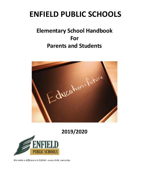 Student Handbooks Elementary Handbook  2019-20