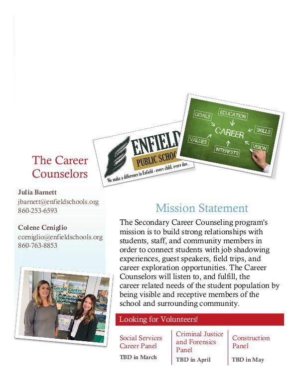 Career Center Newsletter Winter 2020