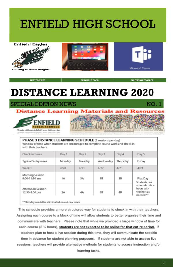 NEW EHS Distance Learning News May 2020