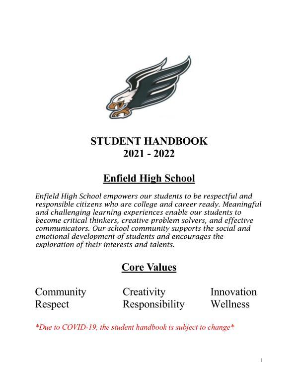 EHS Student Handbook 2022