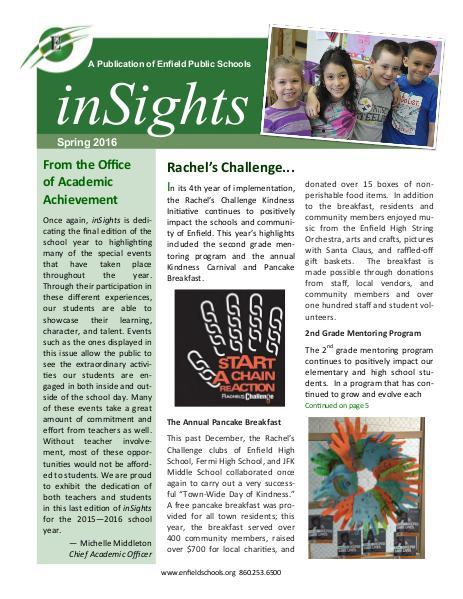 inSights Magazine Spring 2016