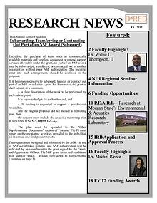 Division of Research and Economic Development FY 17 Q2 Research News