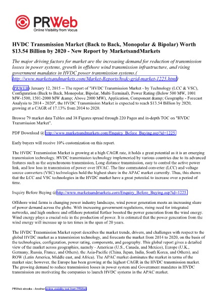 HVDC Transmission Market (LCC & VSC) by Technology - 2020   Marketsan HVDC Transmission Market (LCC & VSC) by Technology