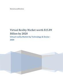 Virtual reality Market by Technology  2020 | MarketsandMarkrkets