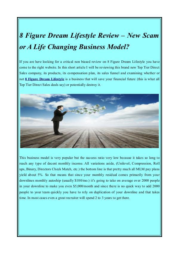 8 Figure Dream Lifestyle leaders 8 Figure Dream Lifestyle