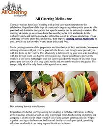 Cheap Party Catering Melbourne