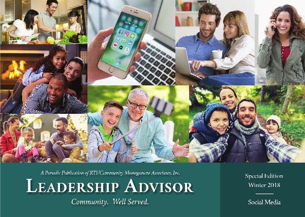 Leadership Advisor eNewsletter Winter 2018