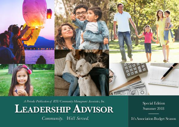 Leadership Advisor eNewsletter Leadership Advisor Summer 2018 - Special  Edition_
